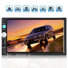 7'' 2DIN HD Bluetooth Microphone Touch Screen Car Stereo Radio MP5 Player AUX  #