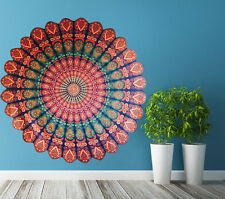 Indian Mandala Floral Wall Decals Hippie Decal Yoga Cotton Sticker Boho Bedroom
