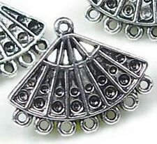4 Pewter Chandelier Filigree Earring/Pendant Connector