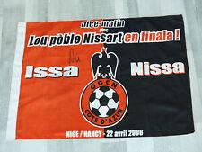Drapeau flag OGC NICE ogcn finale 05 signed signé HUGO LLORIS ultras foot
