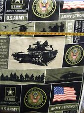 U S ARMY PATCH  U S ARMY STRONG  FLEECE FABRIC  40X58 INCHES