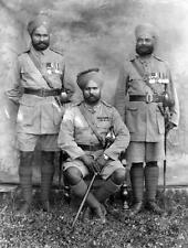 Photo. ca 1934. Sikh Indian Military Officers