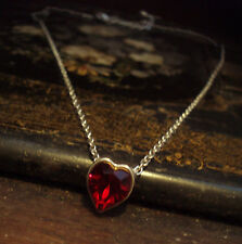 Red Crystal Heart Necklace Made with Swarovski Elements
