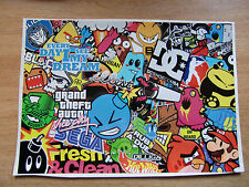 Sticker Bomb sheet 1 - A4 size