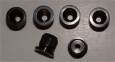 Guitar Parts - SET of 6 - BUSHINGS FERRULES - BLACK - Rear