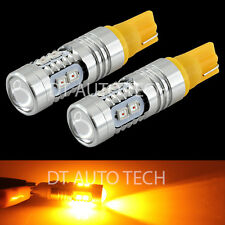 2X T10/192 2538 Chip LED High Power Amber/Yellow Interior Light Bulbs