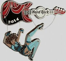 Hard Rock Cafe ONLINE 2014 Sexy PUPPET Girl PIN #1 of 3! Guitar Stage - LE 100!
