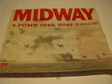 1964 Midway Naval-Air Battle Avalon Hill Board Game Fair Condition
