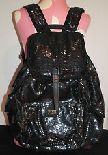Victoria's Secret PINK Backpack / Book Bag *New w/ Tags* Navy/Black Sequin BLING