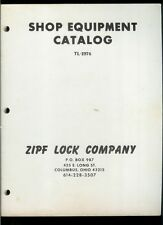 Super Rare Vintage Original 1976 ZIPF Lock Co Shop Equipment Catalog Key Cutters