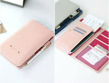 Womens Pink Journey Travel Passport  ID Ticket Holder Wallet Purse Oraniger Case