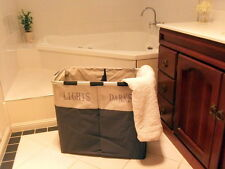 Laundry Hamper Lights & Darks Folding Twin Sorter Large Bin Bag Washing Basket