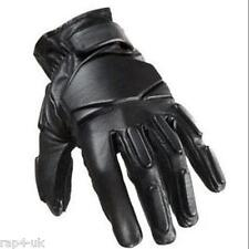 SWAT Tactical LEATHER Gloves Paintball Shooting Airsoft (Black) Small [AE5]