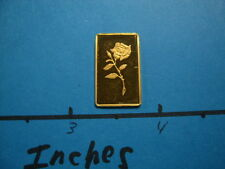 ROSE CREDIT SUISSE 2.5 GRAM 999.9 PURE GOLD RARE COOL SIZE GREAT FOR BEZEL