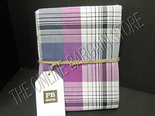Pottery Barn Teen Prescott Plaid Bed Dorm College Duvet Cover Twin Navy Purple