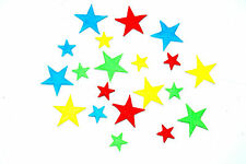 20 Beautiful assortment of sizes and any colours STAR  Cake Decorations