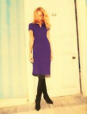 NEW ORG $208 BODEN AMETHIST PURPLE WOOL TULIP DRESS WQ066 - SIZE US 16L