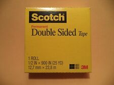 "3M Scotch Double-Coated Tape 665 Double-Sided Roll 1"" Core Photo Safe"
