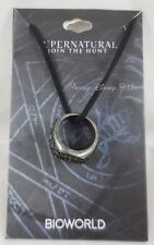 Supernatural Winchester Brother Anti-Possession Class Ring Pendant Cord Necklace