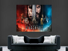 WARCRAFT MOVIE POSTER THE BEGINNING CINEMA FILM  WALL ART PICTURE PRINT LARGE