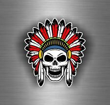 Sticker car motorcycle helmet vinyl chopper biker skull indian ref1