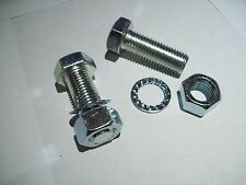 Two x m16 x 45 towbar towball bolts and lock washers High tensile