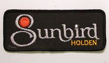 VINTAGE HOLDEN SUNBIRD EMBROIDERED PATCH LARGE WOVEN CLOTH BADGE SEW-ON RACING