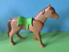 Playmobil Pferd braun Indianer Sattel grün Indianerdorf 3250 Western Zubehör