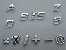 verchromte Klebebuchstaben Buchstaben chrom selbstklebend 3D erhaben