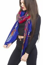 Scarf Spring Shawl New Summer Style Bright Retro Paisley Print Scarf With Fringe