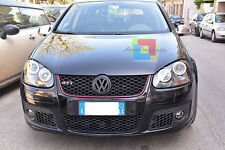VW GOLF 5 03-08 FARI ANTERIORI ANGEL EYES LED BIANCHI + BIXENO H7 CREE XENO LED