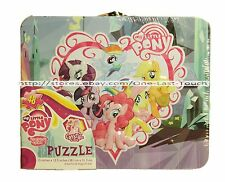 "MY LITTLE PONY 48pc 15""x12.5"" Puzzle + TIN LUNCHBOX CASE Fun For Kids FRIENDSHIP"