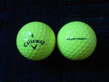 """20 callaway - """"cxr power"""" -"""" jaune"""" - balles de golf - """"pearl/a"""" grades."""