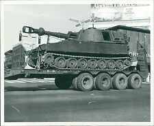 1976 British Tank on a Truck Bed Original News Service Photo