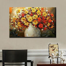Large Hand-painted Wall Decor Art Abstract Oil Painting Canvas,Daisy(No Frame)
