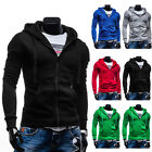 Sport Casual Mens Slim Fit Hoodie Warm Pullover Sweater Jacket Coat Tops Outwear