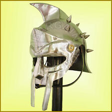 Wearable Gladiator Maximus Roman Spiked Helmet+Leather Linner Larp Roleplay  SCA
