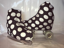 Black With White Boot Spots Covers for Roller Skates/Ice Skates SMALL ONLY