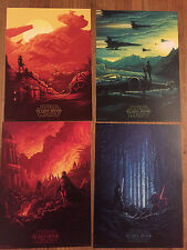 STAR WARS The Force Awakens Complete SET of 4 IMAX posters 9.5 X 13