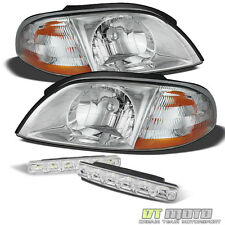 99-03 Ford Windstar Replacement Headlights Headlamps +Smd Fog Lights Left+right