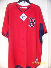 """RED SOX EMBROIDERED """"MAJESTIC """" ALL SEWN RED ALT. JERSEY MENS 2XL. NEW"""