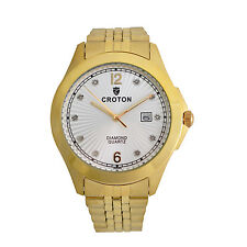 Croton Men's CN307562YLSD Diamond Hour Markers Yellow Gold Quartz Dress Watch