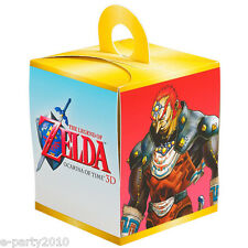 LEGEND OF ZELDA CUPCAKE BOXES (4) ~ Video Game Birthday Party Supplies Nintendo