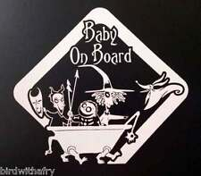 Baby On Board Nightmare Before Christmas Car Body Window Vinyl Decal