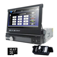 "Reverse Camera +1 Din 7"" In dash Deck Car Stereo DVD Player Ipod BT Radio SD TV"