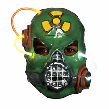 Green Putrid Alien Biohazard Light Up Alien Plastic Mask Adult Costume Accessory
