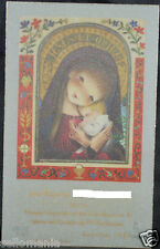 OLD FIRST COMMUNION REMEMBRANCE HOLY CARD YEAR 1967 ANDACHTSBILD SANTINI   C1122