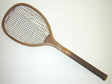 C & Cross Transitional Flat Top Antique Tennis Racquet 1890's Rare Wood Butt Cap
