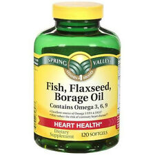 Spring Valley Fish, Flax & Borage Oil Pills Softgels, 120 count