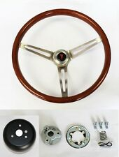 "NEW! 1964-1966 Pontiac GTO Wood Steering Wheel 15"" High Gloss Grip"